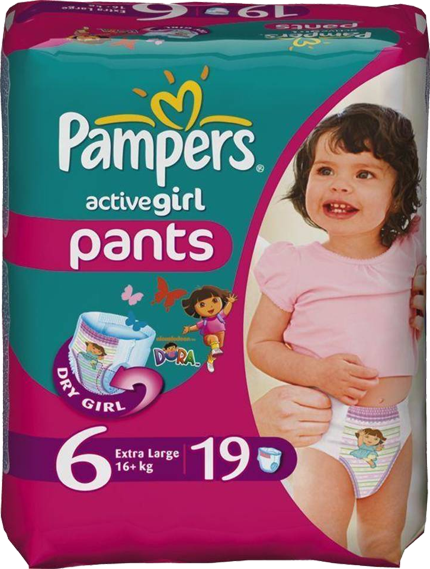 Pampers Active Girl Pants