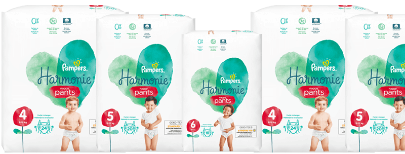 pampers harmonie pure protection pants luierbroekjes